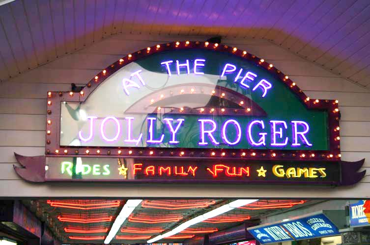 Jolly Roger Amusement Park at the Pier