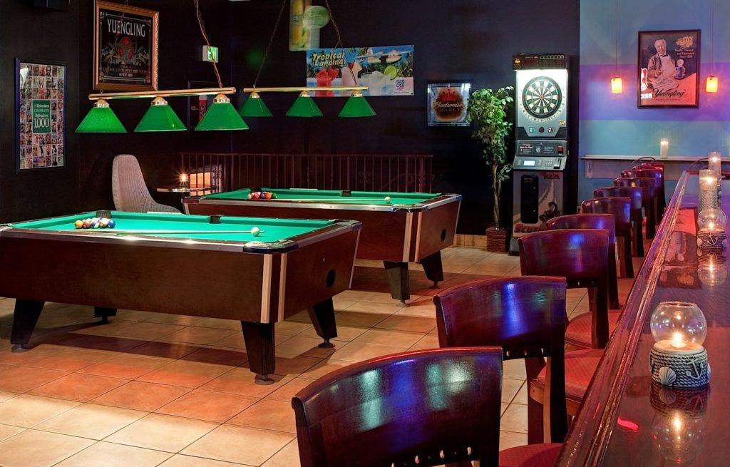 pool tables at bar