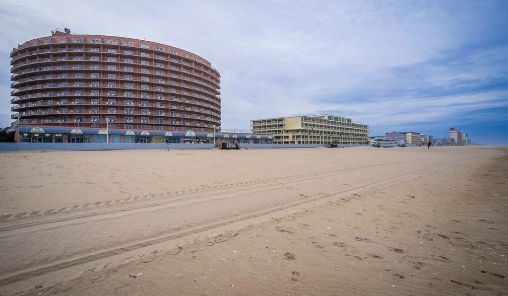 Grand Hotel view from the beach