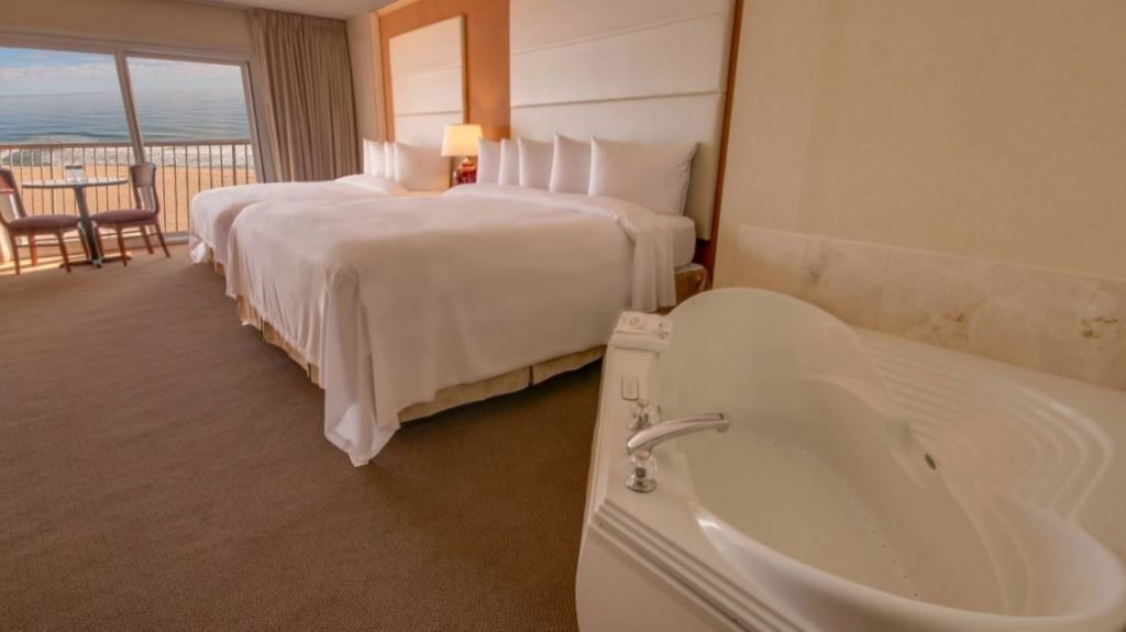 rooms view with jacuzzi tub