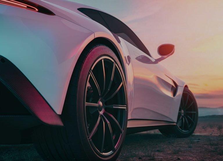 close up of pink car