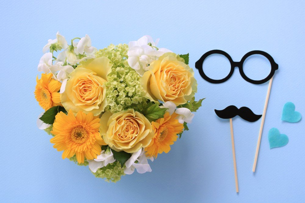 flower bouquet with wedding props
