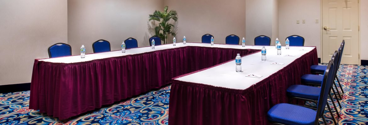 hotel conference room meeting table