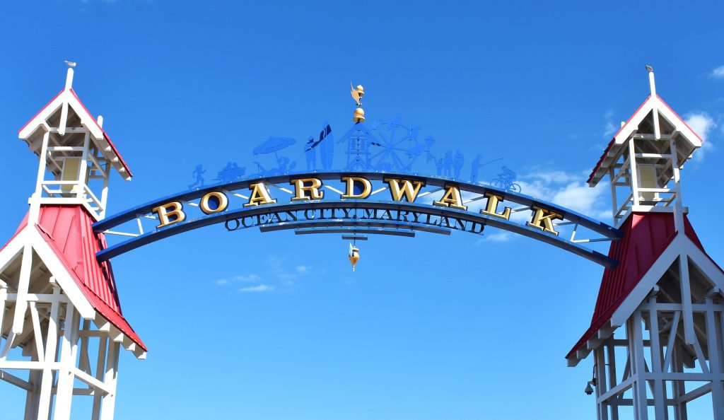 Welcome Sign at Ocean City, Maryland, USA